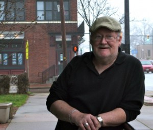 """Akron resident, Jerry Raker, is an Angel Falls Cafe regular and a well-liked local. Some say he could be deemed the """"unofficial mayor of Highland Square."""" The Wadsworth native has cultivated many friends and acquaintances during his past 31 years living in the Akron area."""