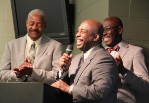 (From left) Frank Williams (Man2Man), Don Lykes (Fathers & Sons of Northeast Ohio) and the Rev. Eugene Norris (Fame Fathers) are part of a recently announced countywide collaboration called the Summit County Fatherhood Initiative.