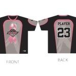 Racers unveil pink jerseys celebrating 15th anniversary fighting breast cancer