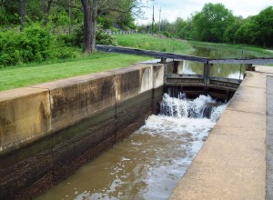 Ohio & Erie Canal lock filling up