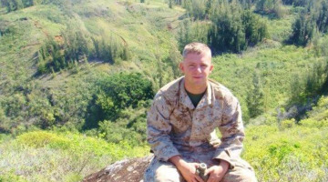Ravenna resident Dale Dunford received a Purple Heart Award in Iraq. He returned home to pursue commercial diving school.