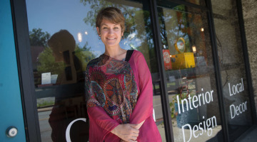 Karen Starr, a Highland Square resident, is a big proponent of sustainability in the community,