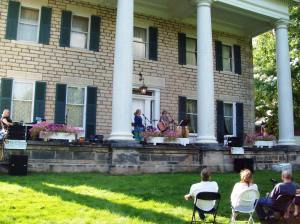 Tracy Thomas performed from the porch of Perkins Mansion (Photo by H. Craig Erskine III)