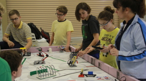 The Tallmadge Robotics Team adopts tenets of science and math for competition, but good sportsmanship is stressed above all else. (Photos: Chris Miller)