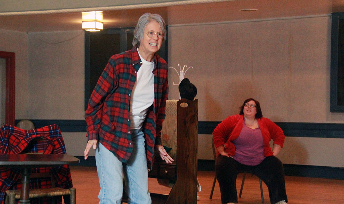 """Priscilla Kaczuk stars as Emma """"Grandma"""" Gatewood, the first woman to embark on a solo hike on the Appalachian Trail at age 67 in """"Trail Magic,"""" Nov. 21 through 23 at Balch Street Theatre."""