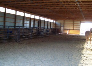 Inside the covered horse arena Photo by H. Craig Erskine III