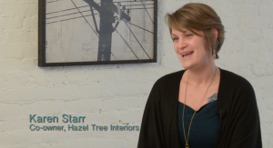 Karen Starr, from Hazel Tree Interiors, is guest curating the 'Living With Art' exhibit at the Akron Art Museum.