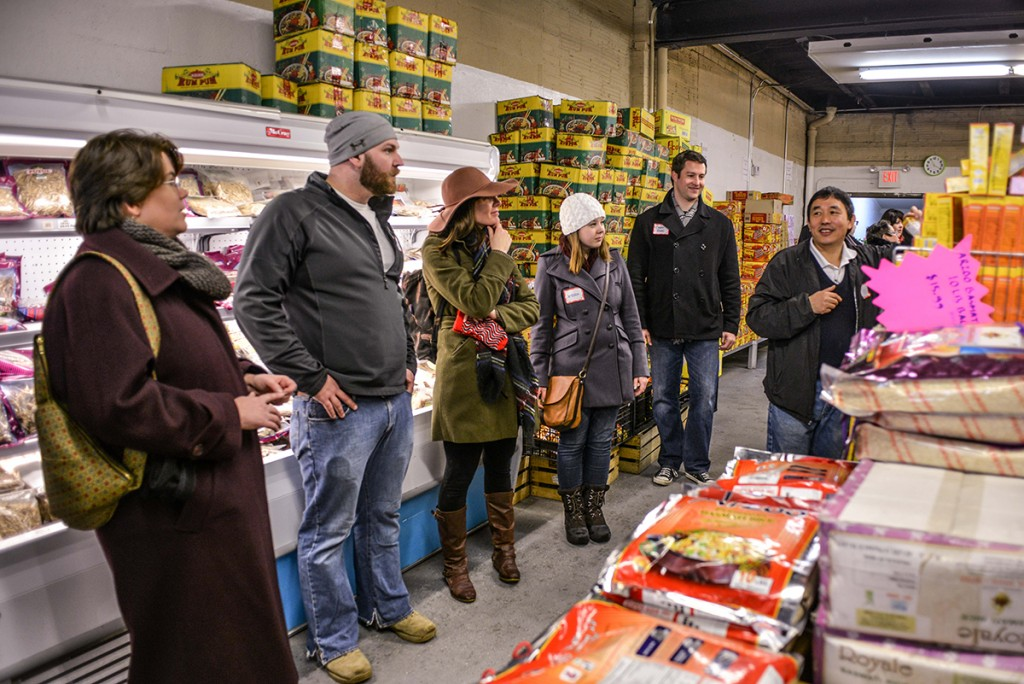 Family Groceries, on North Main Street, is run by Naresh, a refugee from Nepal. (Photo: Shane Wynn)
