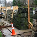 Stan Hywet restores historic perimeter stone wall