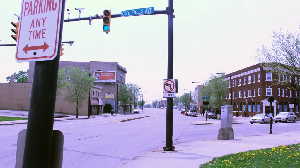 The intersection of North Main Street and Cuyahoga Falls Avenue in North Hill will be the location of Akron's first Better Block event (Photo: Chris Miller)