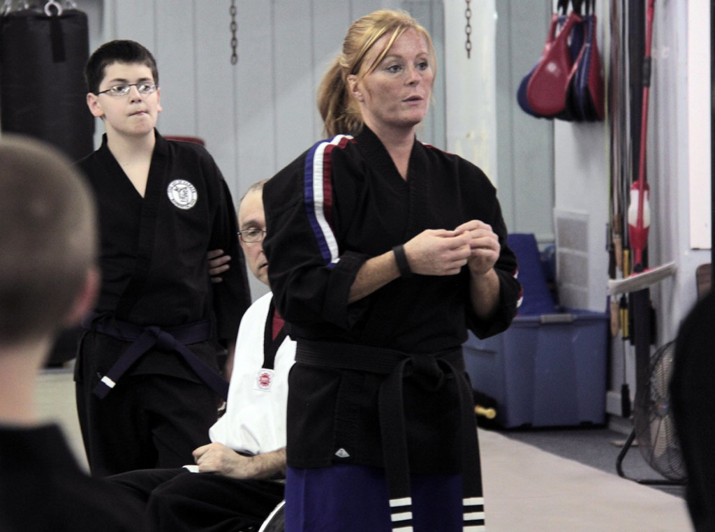 Heidi Rudibaugh, an instructor at family-owned Art of Karate in Barberton, has trained a number of students with disabilities. (Photo: Chris Miller)