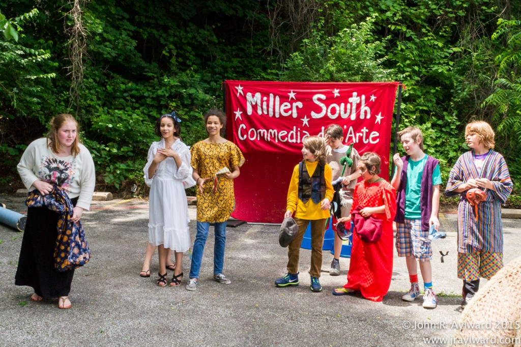 Miller South's Commedia dell'Arte troupe charmed parents and guests with an improvised comic performance. The troupe's outgoing director –Wendy Duke – is offering classes at ACAMP.