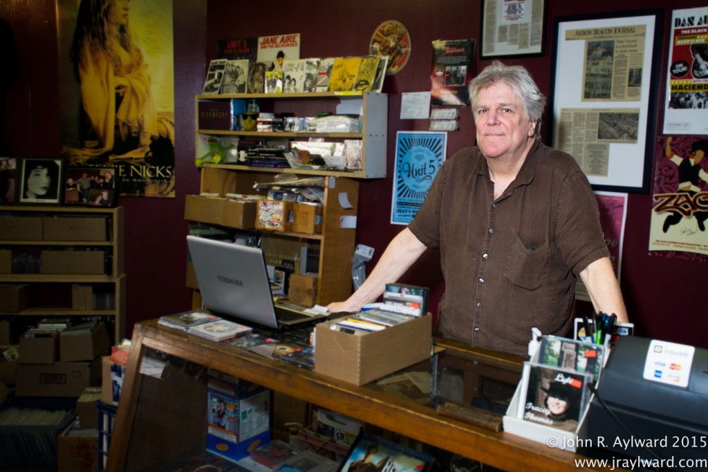 Scott Shepard graciously kept Time Traveler Records open late, allowing bands to play in his back room to avoid the rain! Before or after class at ACAMP, students can mosey on downstairs to peruse Time Traveler's abundant music collection. Support #AkronMusicScene! (Photo: John R. Aylward)