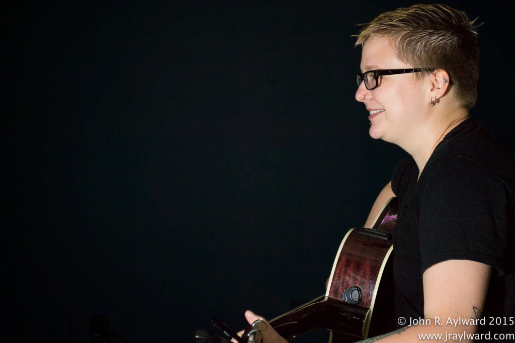It poured outside and inside as Raine performed a mix of original and cover songs on the indoor stage. (Photo: John R. Aylward)