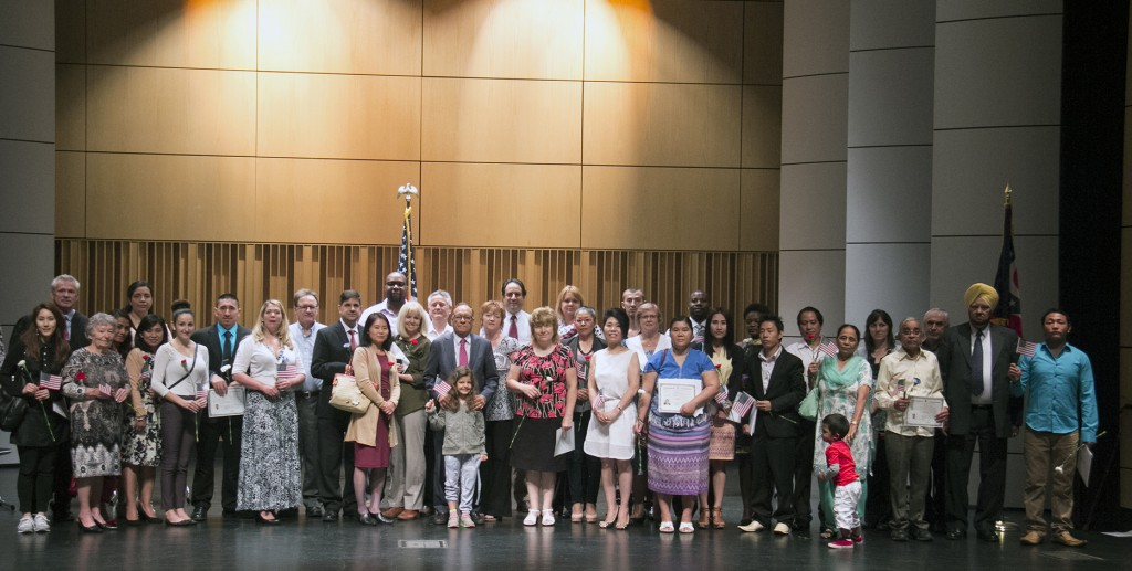 Sixty men and women from 28 different countries took an oath of allegiance at the Akron-Summit County Public Library and became U.S. citizens June 30 as part of a naturalization ceremony. (Photo: Chris Miller)