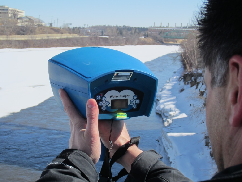 Akron officials say they are the first in the country to begin using this handheld monitor to test Akron's drinking supply for the presence of toxic algae. The monitor was developed by Blue Leg Monitor, in the Netherlands.
