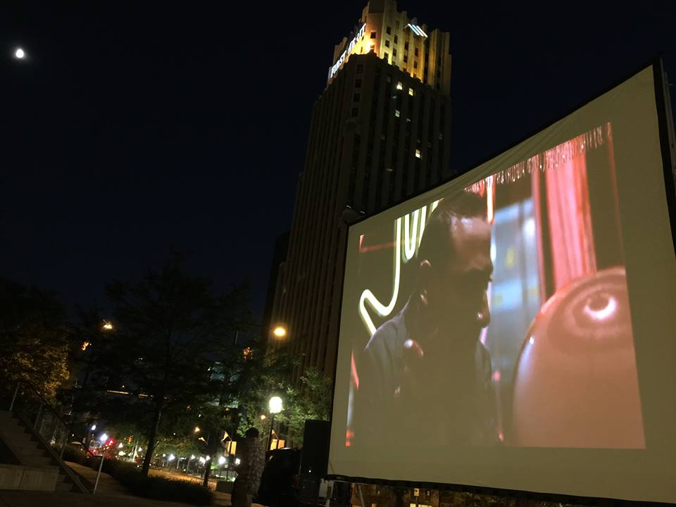 """'A Thing Downtown' culminated with a free showing of """"Pee-Wee's Big Adventure."""" (Photo: Blue Green)"""