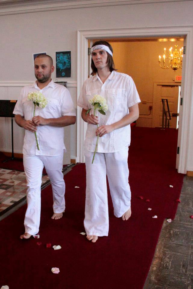 """I called our wedding ceremony a """"performance"""" so I could justify the time it took to plan. (Photo: Fenna Blue)"""