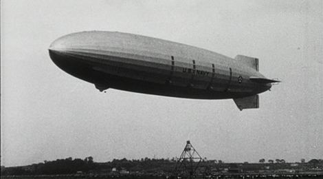 "The U.S. Navy rigid airship was once called ""the largest, strongest aerial creature ever fashioned and flown by man."" See this and other rare blimp footage Oct. 23 at the Polsky Bulding in downtown Akron. (Photo courtesy: Archival Services of University Libraries.)"