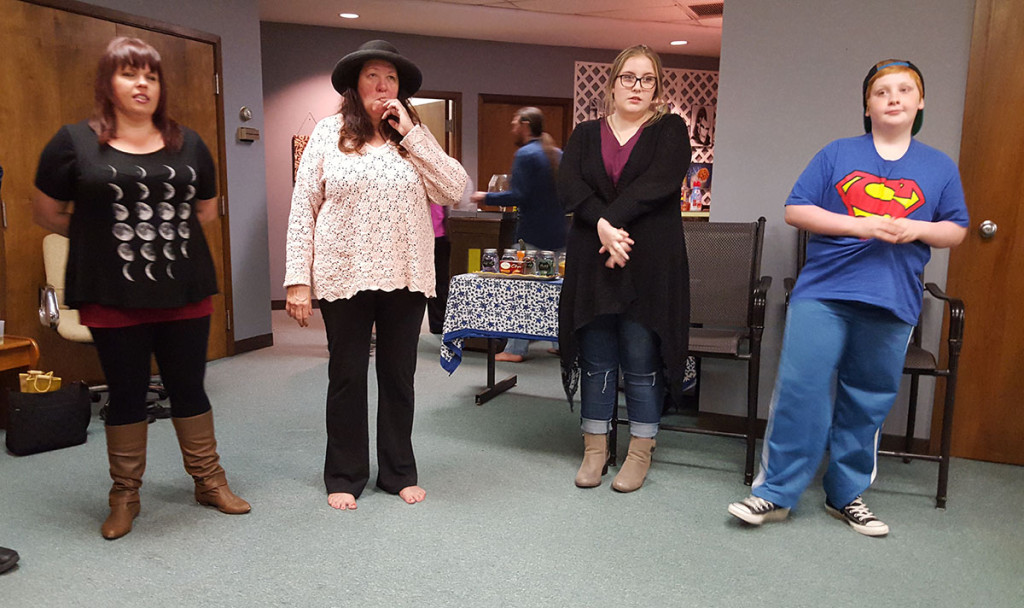 The Wine and Improv event also included an improv workshop for participants. (Photo: Yoly Glez M Heisler)