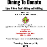 Dine to Donate Feb. 23 for upcoming Awareness Faire