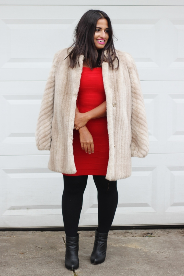 how+to+wear+a+vintage+fur+coat