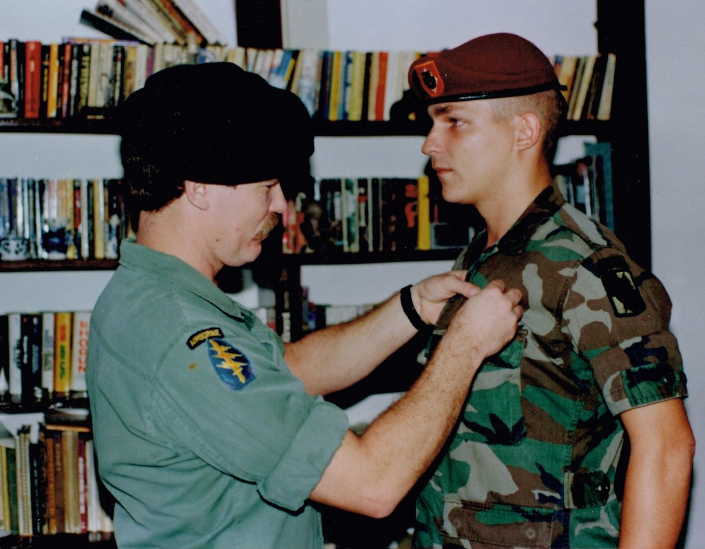 "As a paratrooper in the 18th Airborne Corps during the Desert Shield/Desert Storm era, Raynard Packard missed combat, staying ""in the rear, with the gear"" at Fort Bragg and earning a maroon beret."