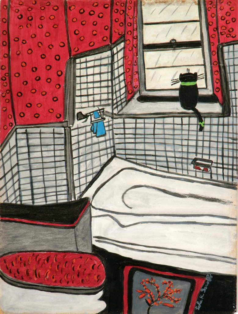Lola Isroff's 'Cat on Windowsill' will be featured in the Akron Art Museum's upcoming exhibit 'Animal as Muse,' which opens March 10.