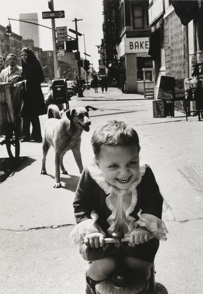 Sandra Weiner, Easter Morning, Ninth Avenue, 1973, gelatin silver print, 13 x 9 in. Collection of the Akron Art Museum. Gift of the artist.