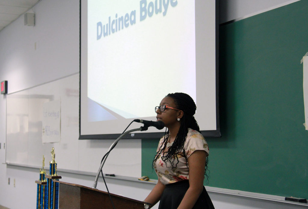 Dulcinea Bouye spoke out against teen violence, urging parents to get more involved in the lives of young people.