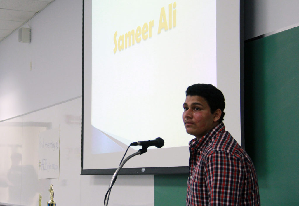 Sameer Ali said social media and texting have become an addiction that is detrimental to the community.