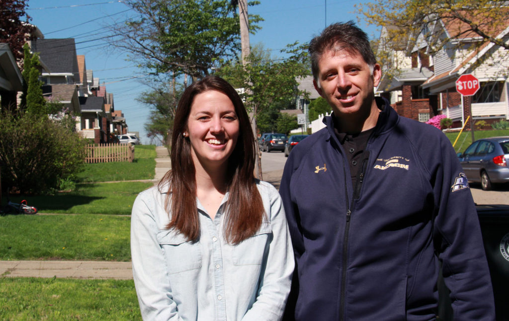 Marissa Blewitt and Eric Green from Neighborhood Network of University Park are at the helm of Neighborhood Reborn, which will focus the efforts of more than 150 volunteers and 15 organizations to transform a block in the Middlebury neighborhood in the University Park footprint. (Photo: Chris Miller)