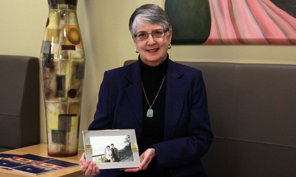 Sandy Auburn will honor her mother by setting up a fund in her name, which is a record 50th fund in one year at Akron Community Foundation. (Photo: Chris Miller)