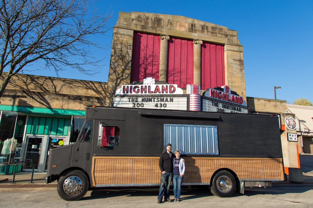 While running a food truck in Akron has its own challenges, the Square Scullery owners Heather and Matt Ulichney say their hearts belong in Akron. (Photo courtesy: Retro Peacock Photography)