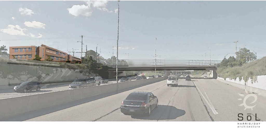 The proposed view of Stark State Akron from Route 8 Northbound.