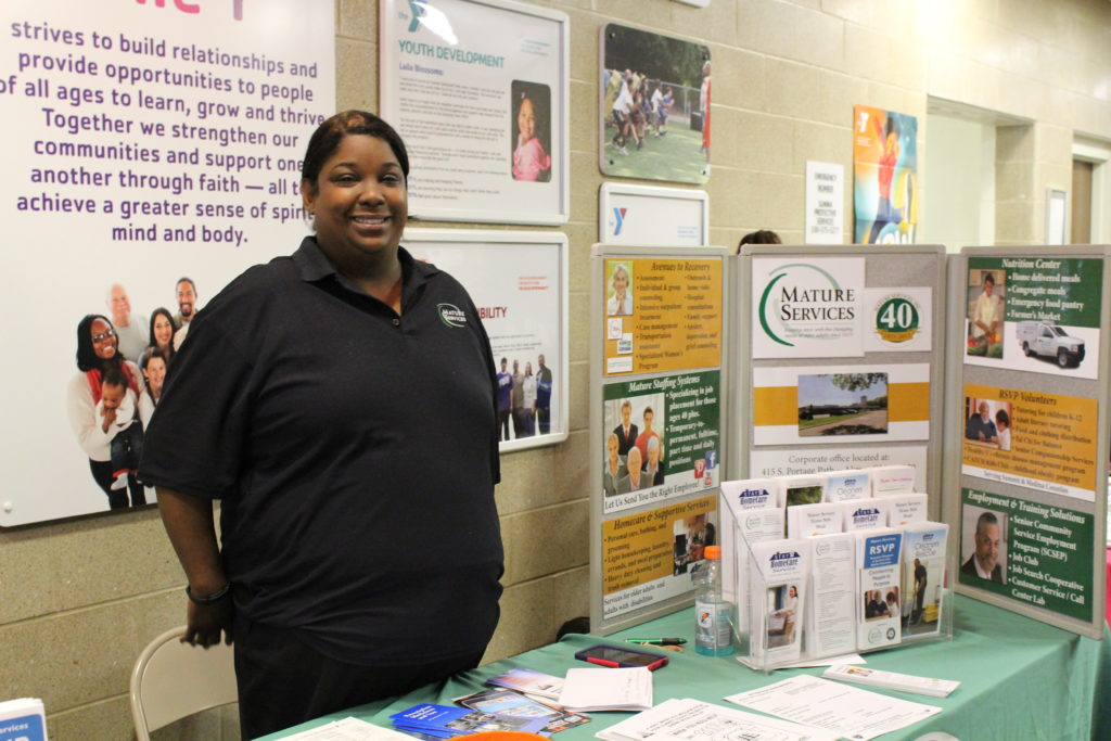 Valerie Henderson, from Mature Services, was one of many exhibitors at the recent Senior Health Fair. (Photo: Yoly Miller)