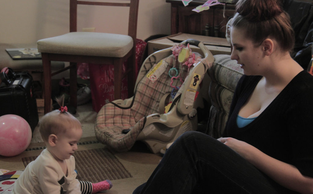 Jessica Mayne (pictured with her daughter Freya) says life has greatly improved after connecting with the Summit County Maternal Depression Network. (Photo: Chris Miller)