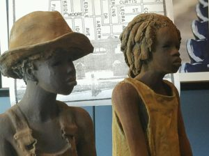 Sculptures by Woodrow Nash. Photo Credit: Yoly Miller