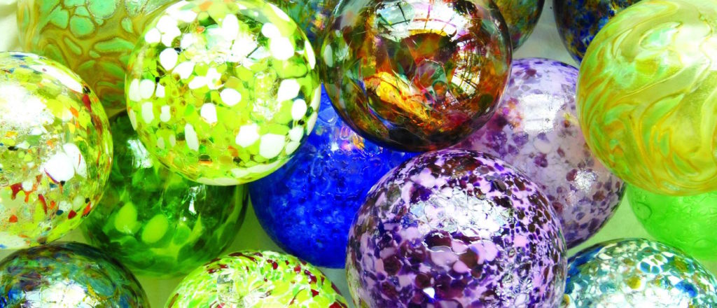 Akron Glass Works is offering friendship ball ornaments like these for donations of at least $10 to their crowdfunding campaign.