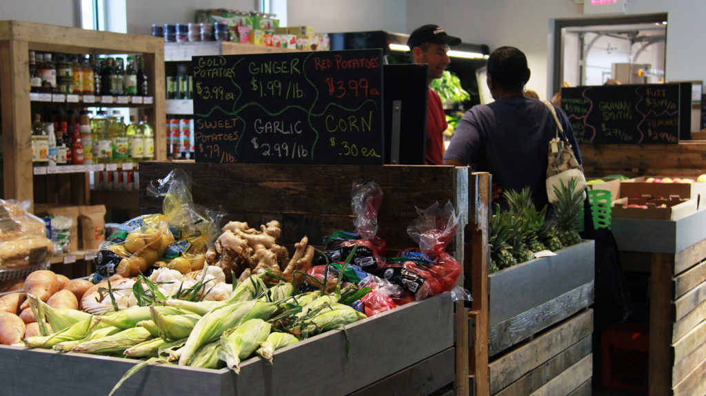 Hattie's Food Hub, at 395 Douglas St., features a corner market with locally grown goods. (Photo: Chris Miller)