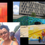 Artist beautifies Towpath junction with 400-foot mural