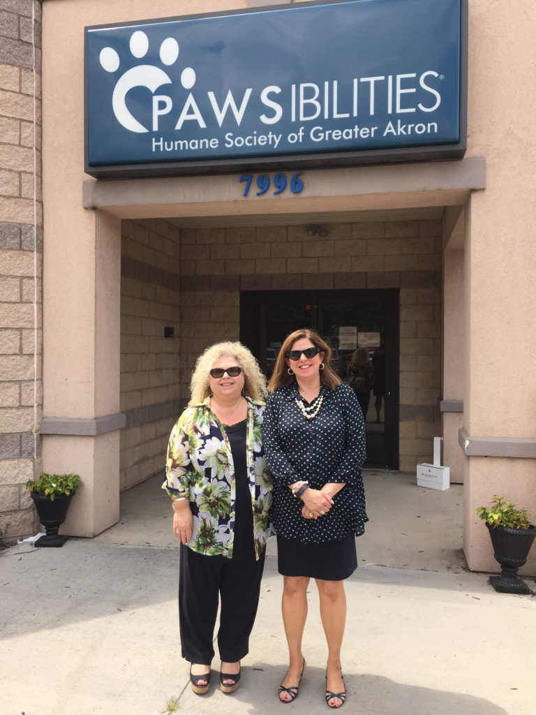 (From left) Diane Johnson, President and CEO of PAWSibilities, Humane Society of Greater Akron, and Municipal Court Judge Katarina Cook.