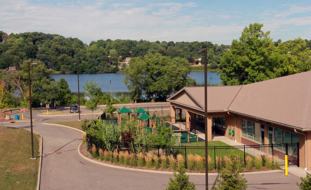 The Akron Metropolitan Housing Authority's (AMHA) Reach Opportunity Center has become an anchor of the Summit Lake neighborhood. Residents will host a walk Aug. 30 to explore this and other local landmarks. (Photo: Chris Miller)