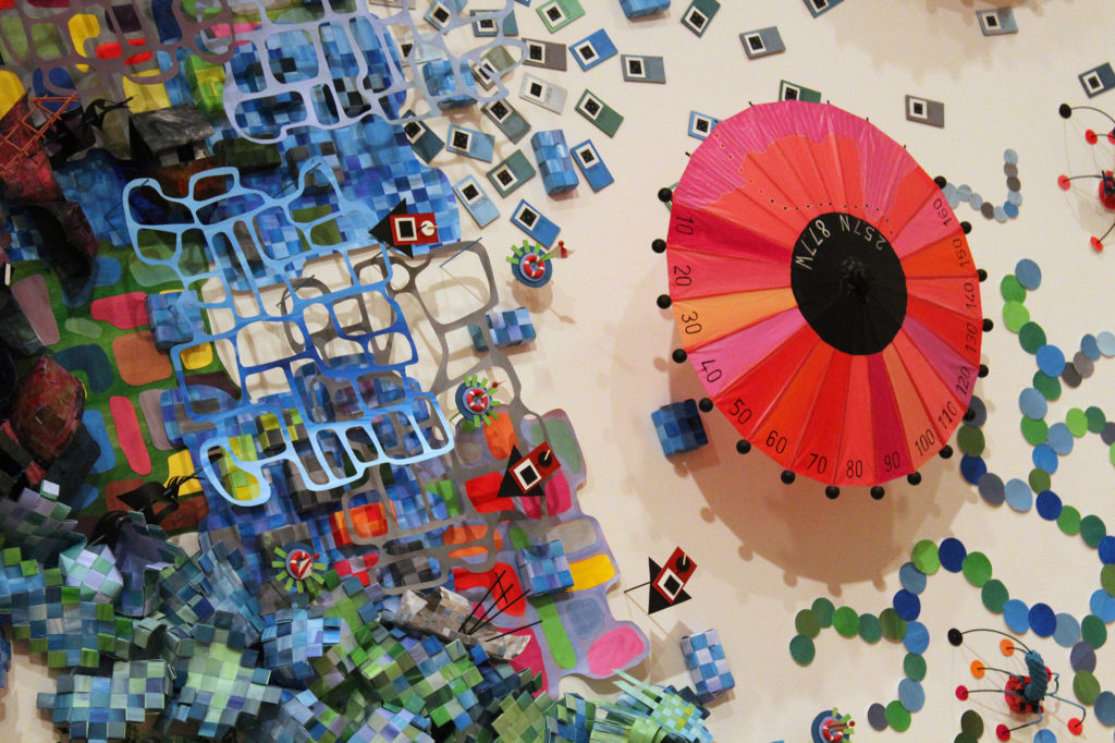 'Intersections' at the Akron Art Museum feature artist Natalie Miebach's tinker-toy like inventions. (Photo: Yoly Miller)