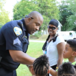 Akron police host ice cream social
