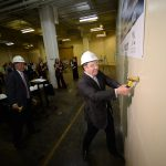 Bounce Innovation Hub hosts 'wall-breaking,' adds tech startup