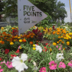 Students create art garden to help connect community (Video)